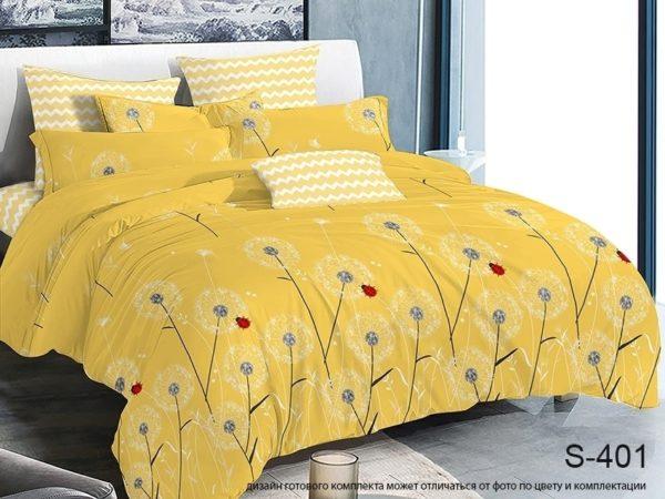 Комплект постельного белья с компаньоном S401  ПОСТЕЛЬНОЕ БЕЛЬЕ ТМ TAG > 2-спальные > Сатин люкс ТМ TAG