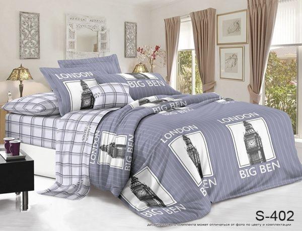 Комплект постельного белья с компаньоном S402  ПОСТЕЛЬНОЕ БЕЛЬЕ ТМ TAG > 2-спальные > Сатин люкс ТМ TAG