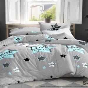 Комплект постельного белья с компаньоном S405  ПОСТЕЛЬНОЕ БЕЛЬЕ ТМ TAG > 2-спальные > Сатин люкс ТМ TAG