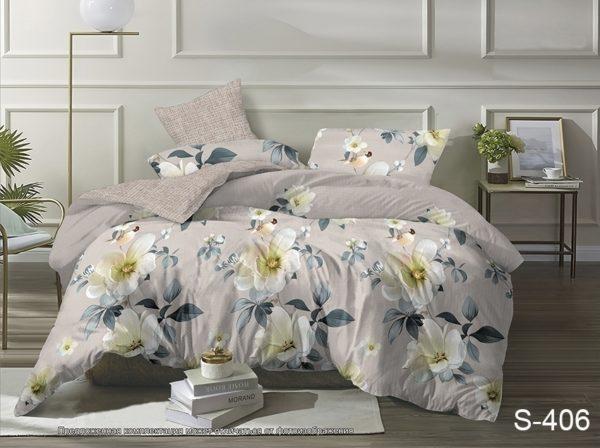 Комплект постельного белья с компаньоном S406  ПОСТЕЛЬНОЕ БЕЛЬЕ ТМ TAG > 2-спальные > Сатин люкс ТМ TAG