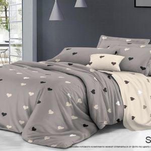 Комплект постельного белья с компаньоном S408  ПОСТЕЛЬНОЕ БЕЛЬЕ ТМ TAG > 2-спальные > Сатин люкс ТМ TAG