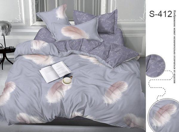 Комплект постельного белья с компаньоном S412  ПОСТЕЛЬНОЕ БЕЛЬЕ ТМ TAG > 2-спальные > Сатин люкс ТМ TAG