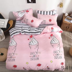 Комплект постельного белья с компаньоном S416  ПОСТЕЛЬНОЕ БЕЛЬЕ ТМ TAG > 2-спальные > Сатин люкс ТМ TAG