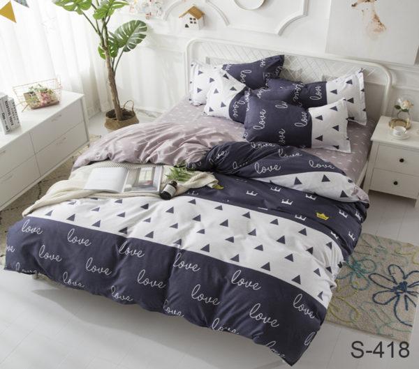 Комплект постельного белья с компаньоном S418  ПОСТЕЛЬНОЕ БЕЛЬЕ ТМ TAG > 2-спальные > Сатин люкс ТМ TAG