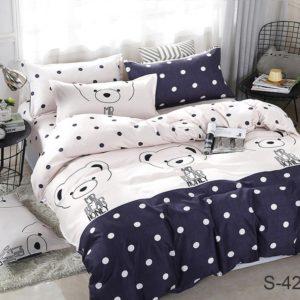 Комплект постельного белья с компаньоном S420  ПОСТЕЛЬНОЕ БЕЛЬЕ ТМ TAG > 2-спальные > Сатин люкс ТМ TAG