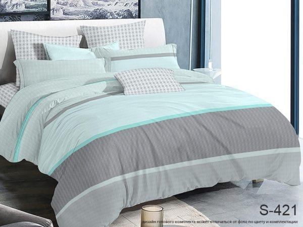 Комплект постельного белья с компаньоном S421  ПОСТЕЛЬНОЕ БЕЛЬЕ ТМ TAG > 2-спальные > Сатин люкс ТМ TAG