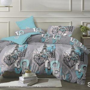 Комплект постельного белья с компаньоном S424  ПОСТЕЛЬНОЕ БЕЛЬЕ ТМ TAG > 2-спальные > Сатин люкс ТМ TAG