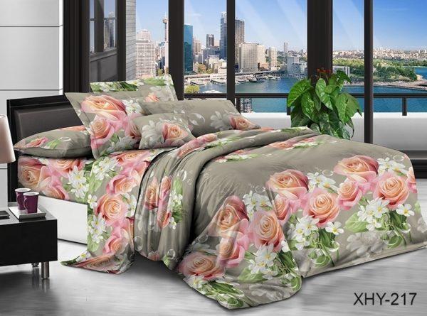 Комплект постельного белья XHY217  ПОСТЕЛЬНОЕ БЕЛЬЕ ТМ TAG > 2-спальные > Поликоттон 3D