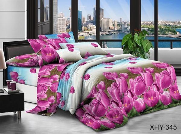 Комплект постельного белья XHY345  ПОСТЕЛЬНОЕ БЕЛЬЕ ТМ TAG > 2-спальные > Поликоттон 3D