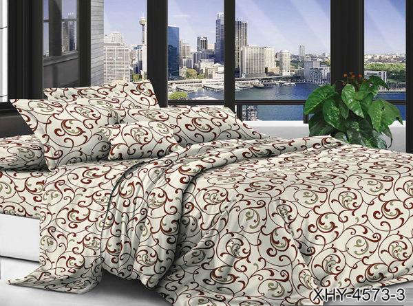 Комплект постельного белья XHY4573-3  ПОСТЕЛЬНОЕ БЕЛЬЕ ТМ TAG > 2-спальные > Поликоттон 3D