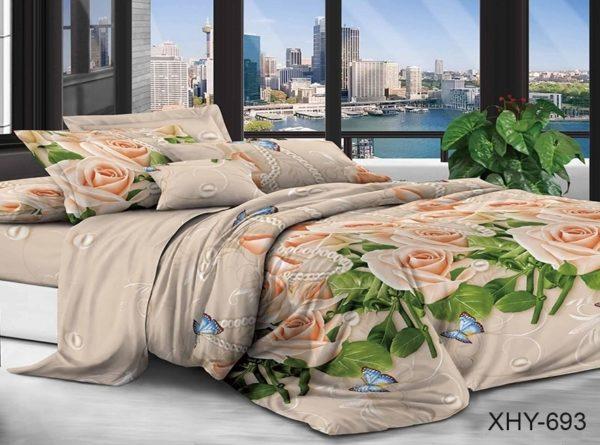 Комплект постельного белья XHY693  ПОСТЕЛЬНОЕ БЕЛЬЕ ТМ TAG > 2-спальные > Поликоттон 3D